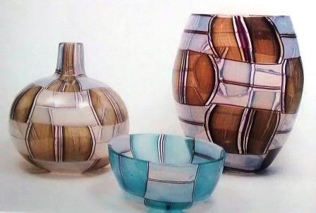 Parabolic blown glass to glass tesserae