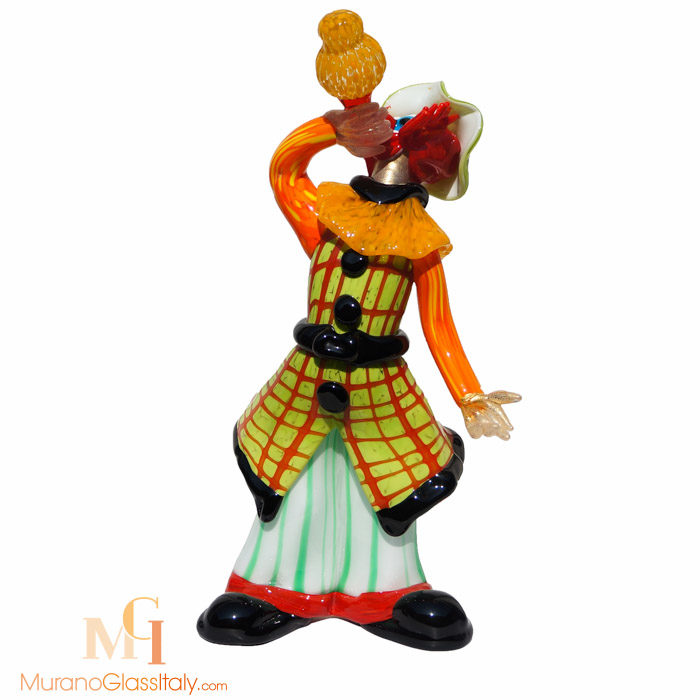 venetian glass clown