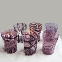 hand blown drinking glasses
