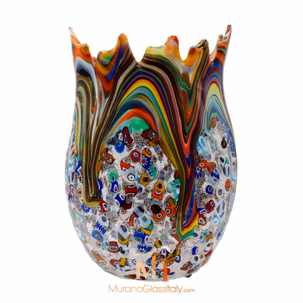 murano flower vase