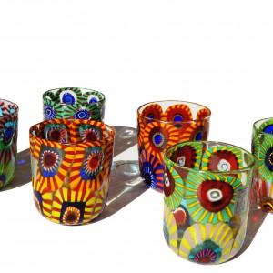murano glass tumblers