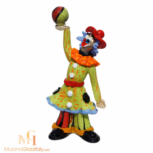 clown en verre de murano