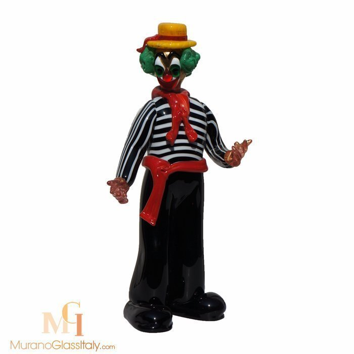 muranoglas clown figur