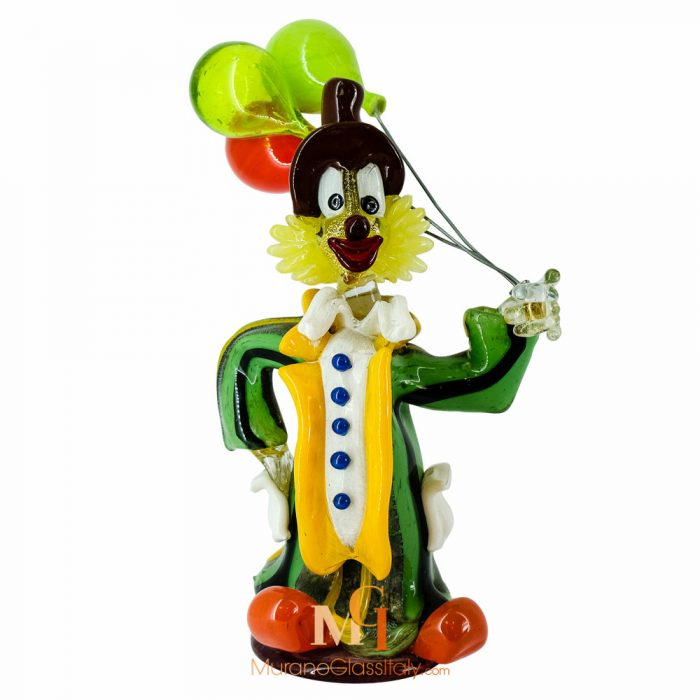 blown glass clown