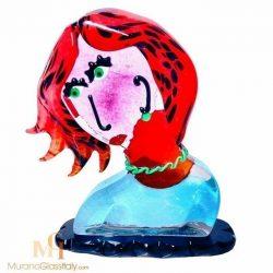 murano glas frau gesicht