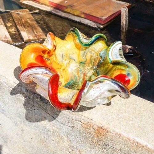murano glas mit goldstaub