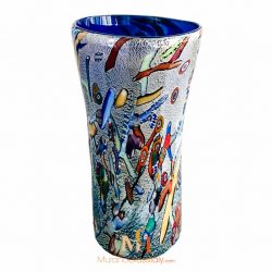 white murano vase