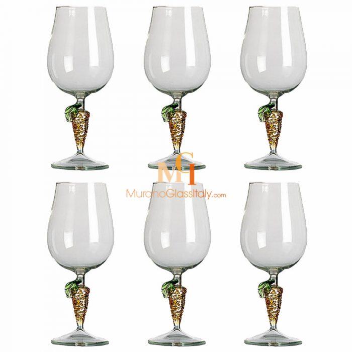 verre à vin cristal murano
