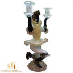 art glass candlestick