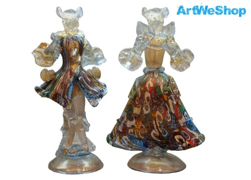 Golden Couple with Murrine Dress front view