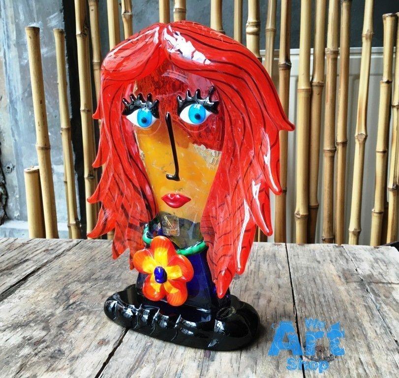 Murano Picasso Head Badioli