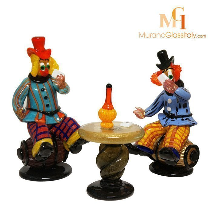 italian glass clowns