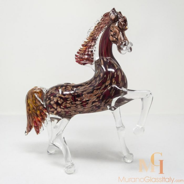 murano glass horse sculpture