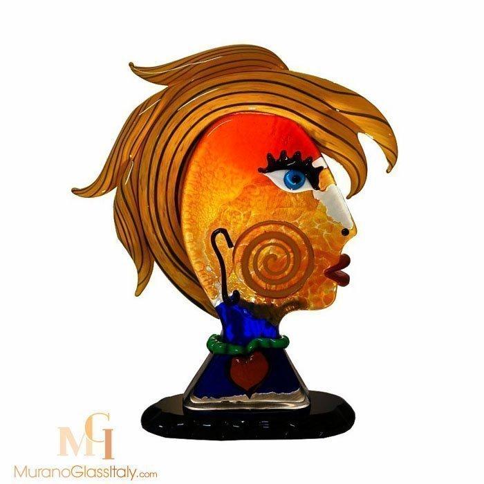 visage sculpture murano