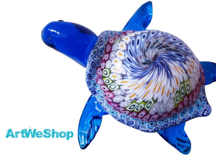 murano glass turtle