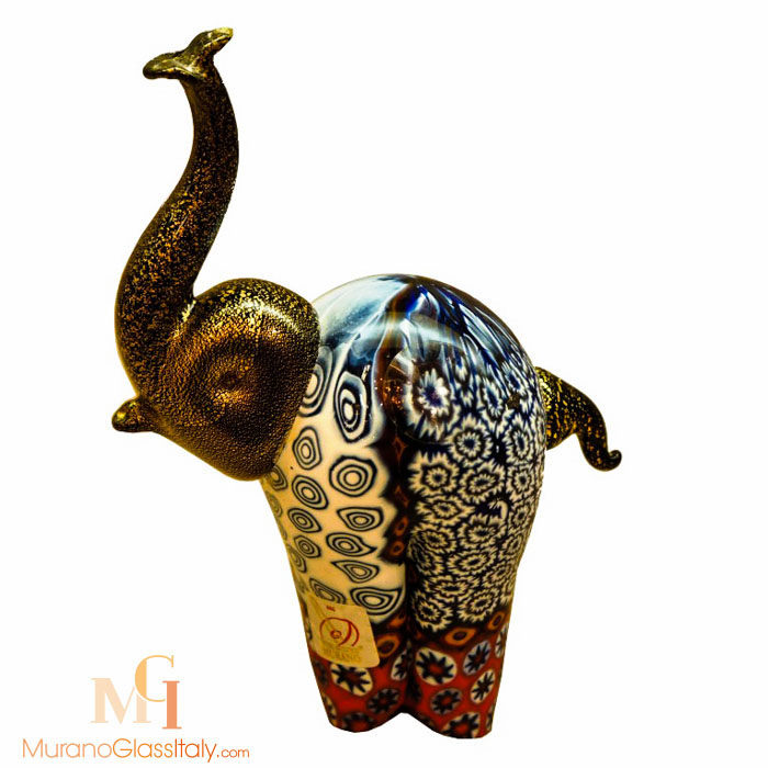 murano glas elefant