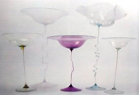 Goblets with shank spiral dating to 1895.