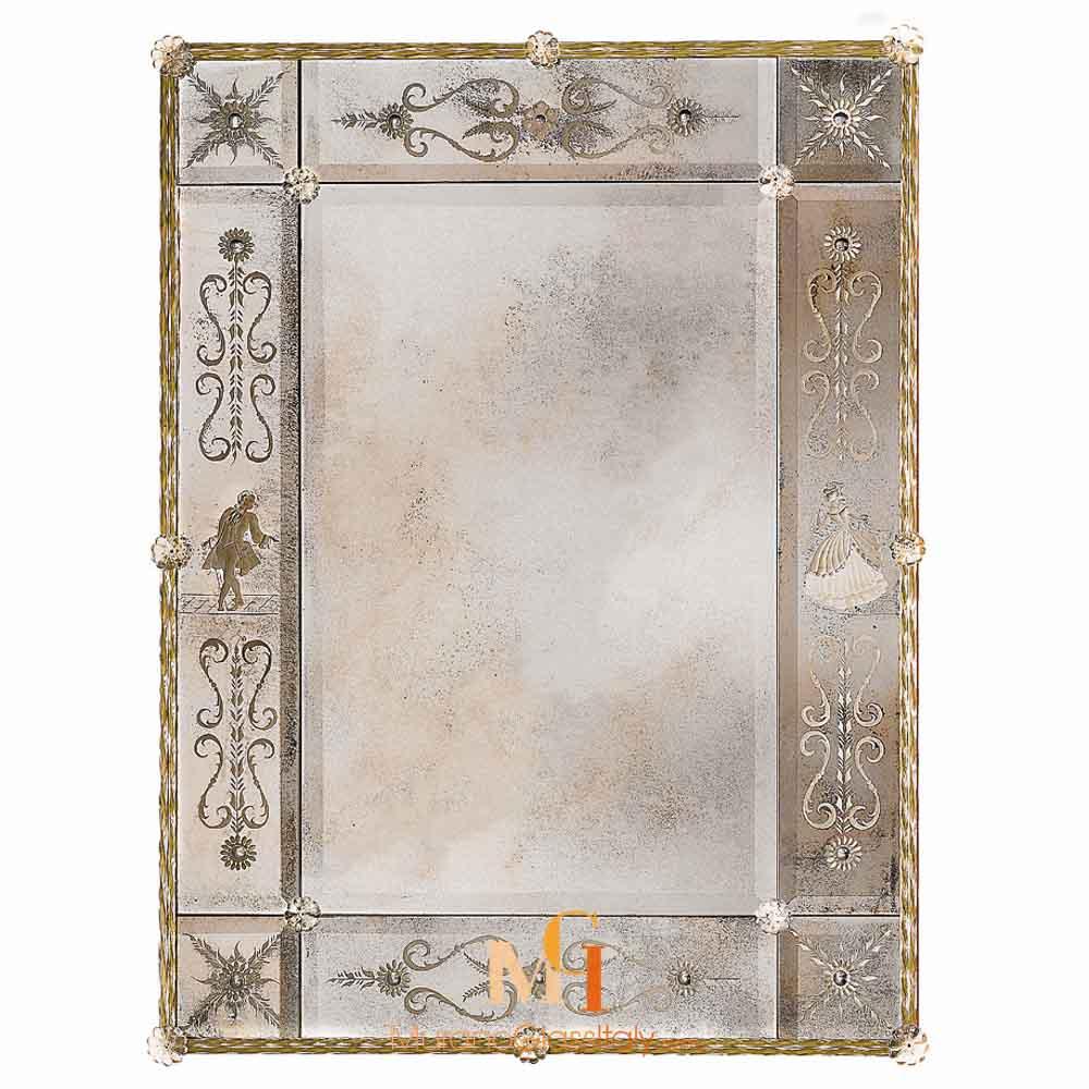 specchio in vetro artistico