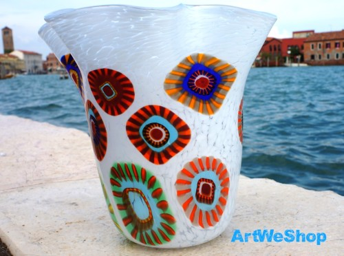 best italian glass vase