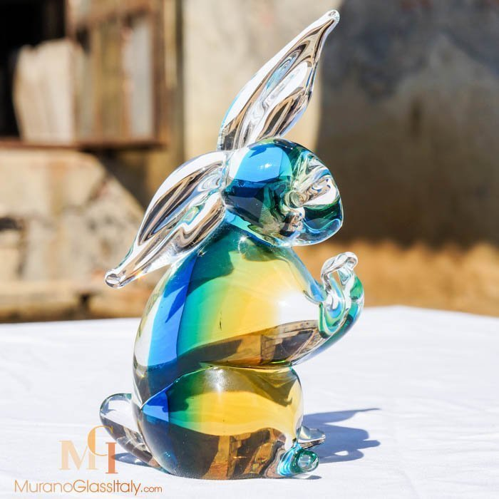 italian glass rabbit