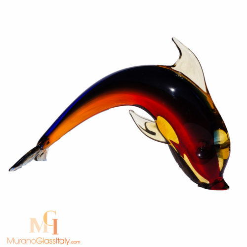 murano glass dolphin