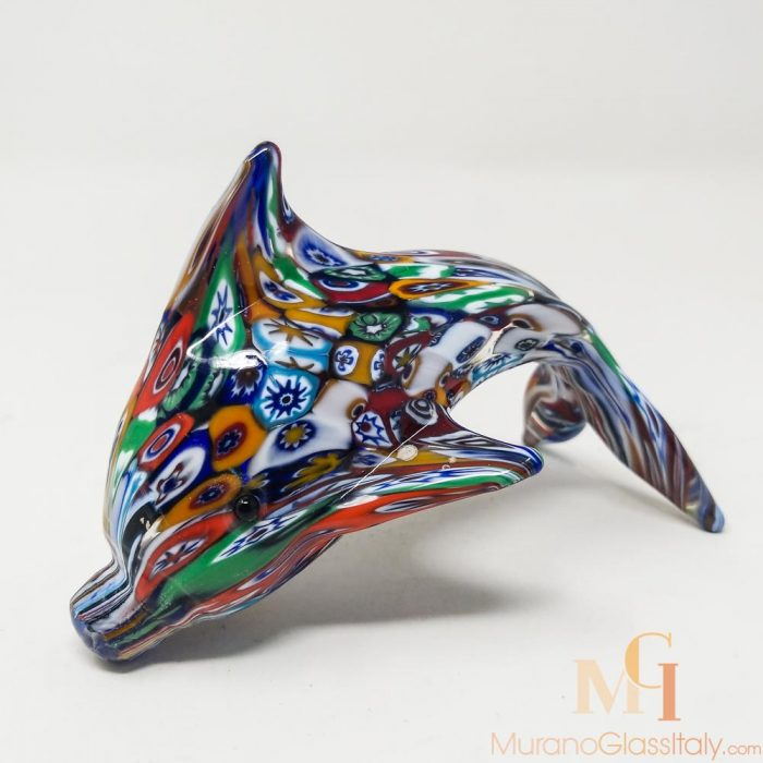 murano glass dolphin
