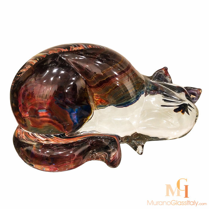 italian glass cat