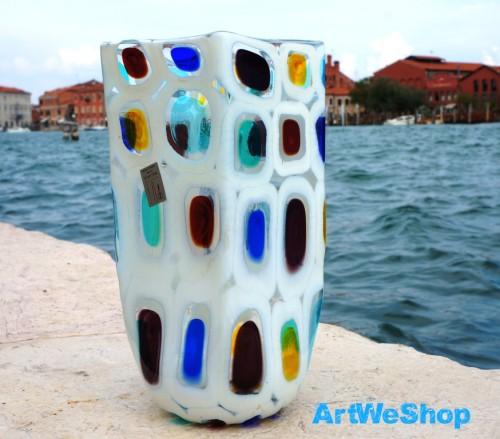 murano glass flower vase