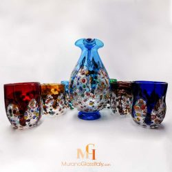 murano drinking glass sets