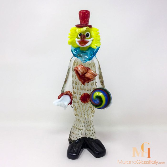 clown en verre murano