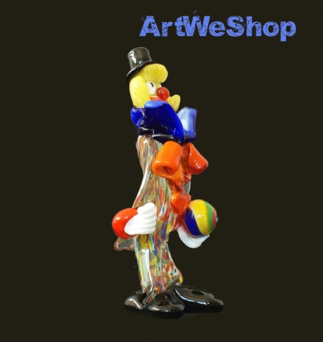 glass clown with ball