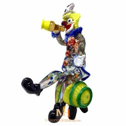 glass clown with bottle