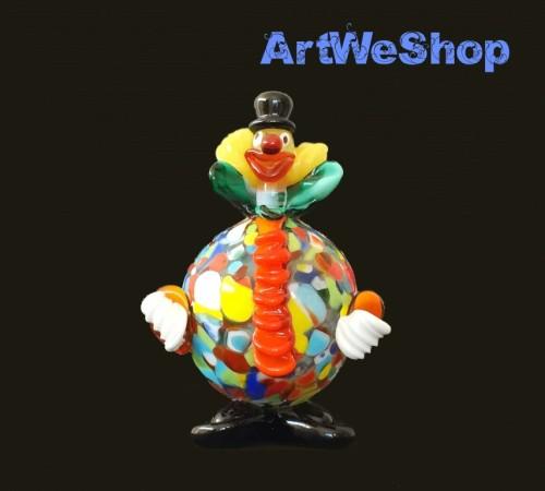 glass clown ornament
