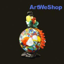 glass clown ornaments