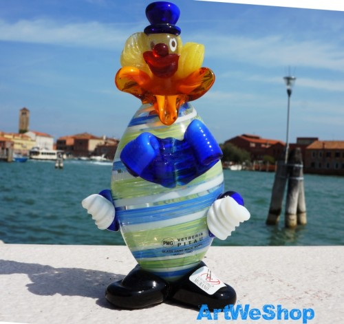 murano clown figur