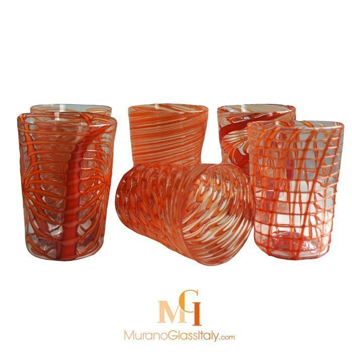 murano glass drinking glasses