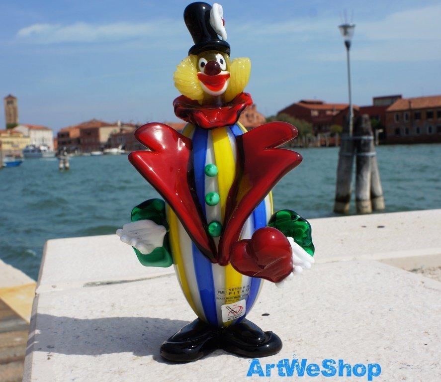 venetian glass clown