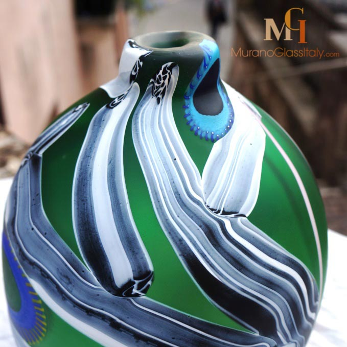 威尼斯手工吹制玻璃花瓶