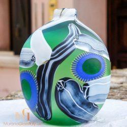 vase grün glas