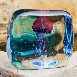jellyfish glass art