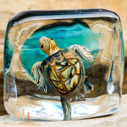 Schildkröte murano glas