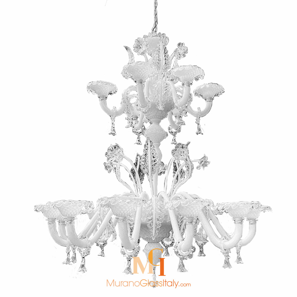 white murano glass chandelier