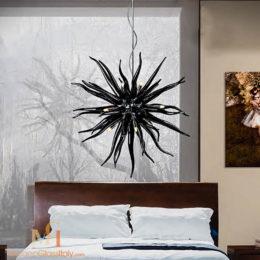lustre cristal contemporain