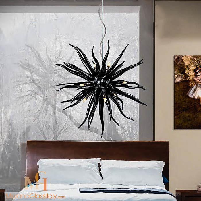 black murano chandelier
