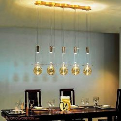 进口餐厅玻璃球吊灯