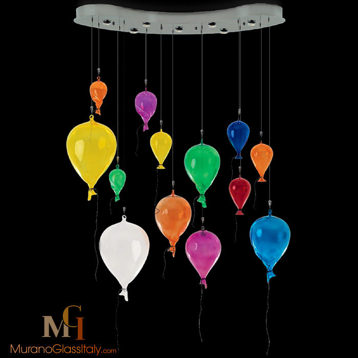 murano glas lampe