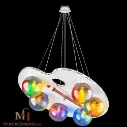 murano glass chandelier modern