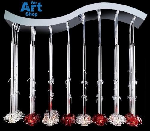 Roses Italian Crystal Chandelier