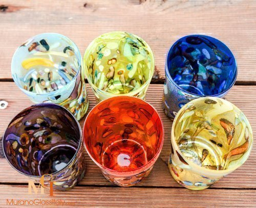 water glasses hand made