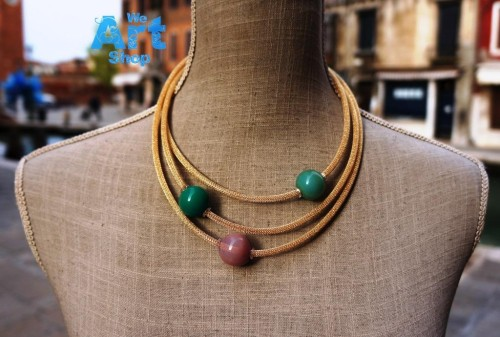 Murano Glass Beads Necklace front